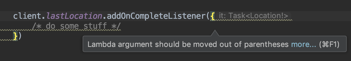 Android Studio Recommending Outside-Parentheses Placement of Lambda